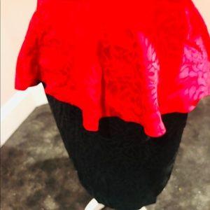 Vintage Dresses - Vintage SILK peplum sequin dress
